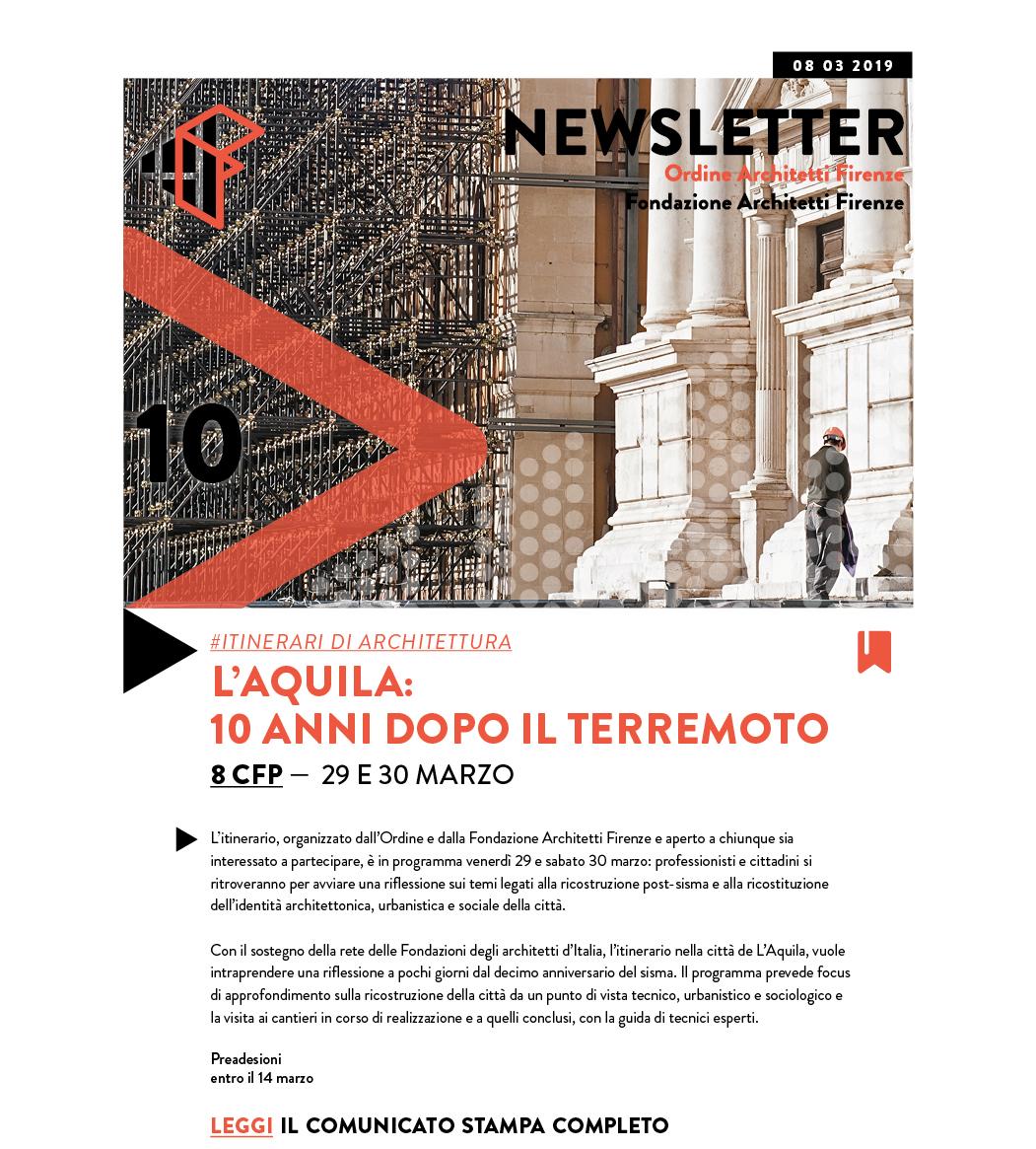 #itinerari di architettura L'AQUILA: 10 ANNI DOPO IL TERREMOTO 8 CFP — 29 e 30 marzo