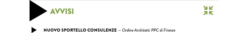 Nuovo sportello consulenze — Ordine Architetti PPC di Firenze