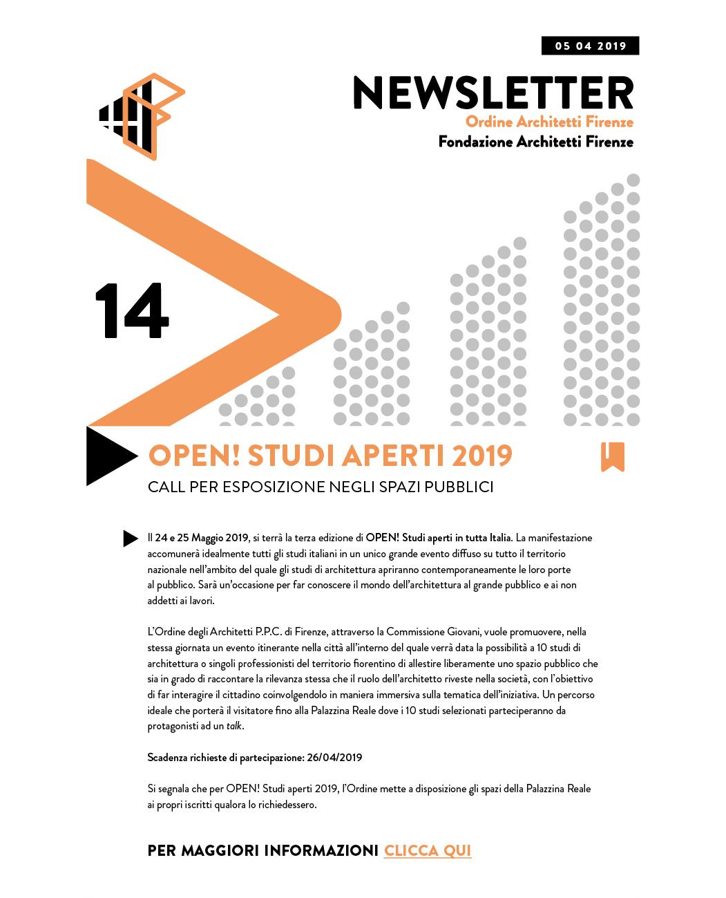 OPEN! STUDI APERTI 2019