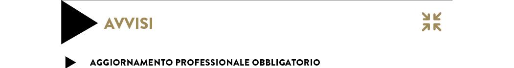 AGGIORNAMENTO PROFESSIONALE OBBLIGATORIO