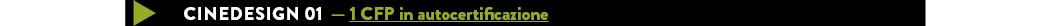 Cinedesign 01 — 1 CFP in autocertificazione