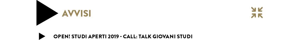 Palazzina Reale: Talk giovani studi