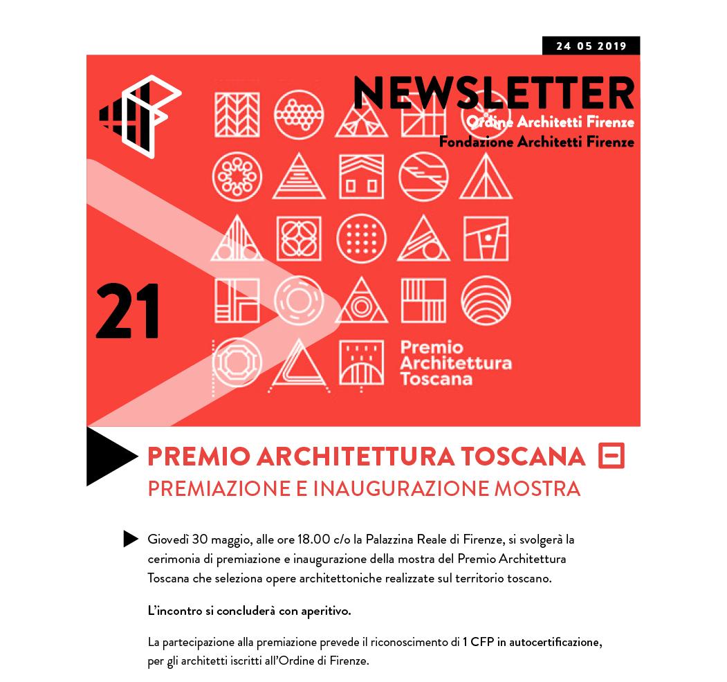 PREMIO ARCHITETTURA TOSCANA Premiazione e inaugurazione mostra