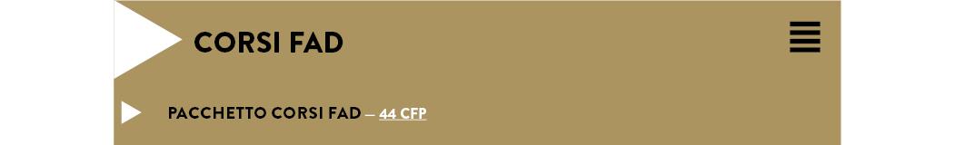 PACCHETTO CORSI FAD — 44 CFP