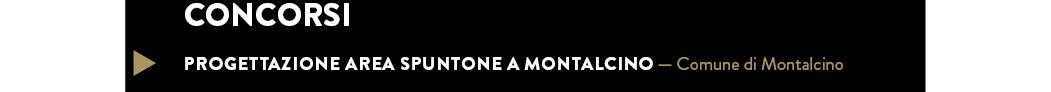 PROGETTAZIONE area Spuntone a Montalcino — Comune di Montalcino