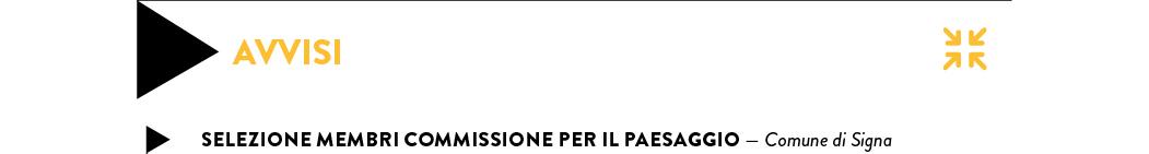 SELEZIONE MEMBRI COMMISSIONE PER IL PAESAGGIO — Comune di Signa