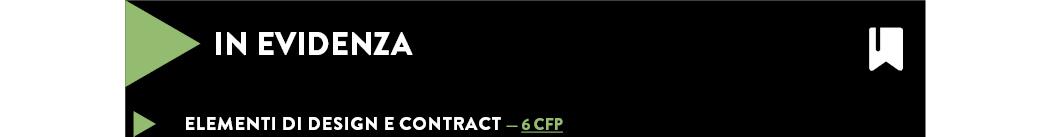 Elementi di design e contract — 6 CFP
