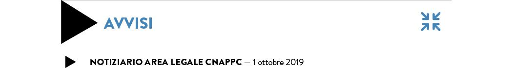 Notiziario Area legale CNAPPC