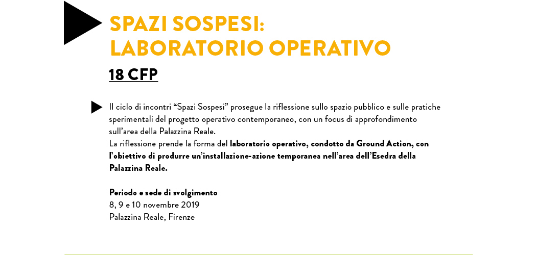 SPAZI SOSPESI: LABORATORIO OPERATIVO 18 CFP