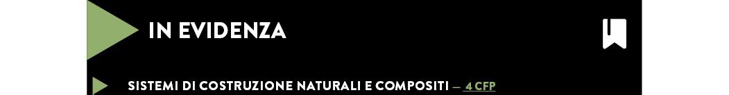 Sistemi di costruzione naturali e compositi — 4 cfp
