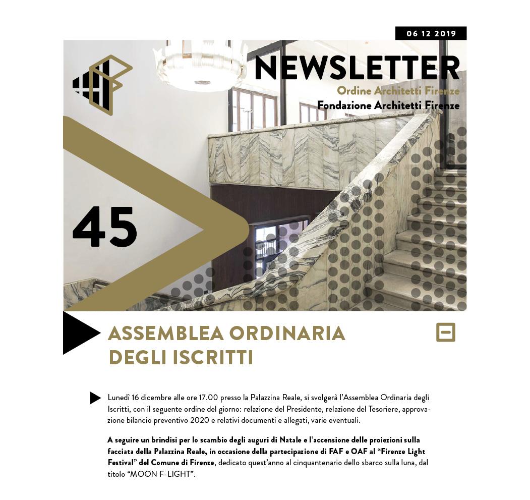 Assemblea Ordinaria degli Iscritti — 16 dicembre