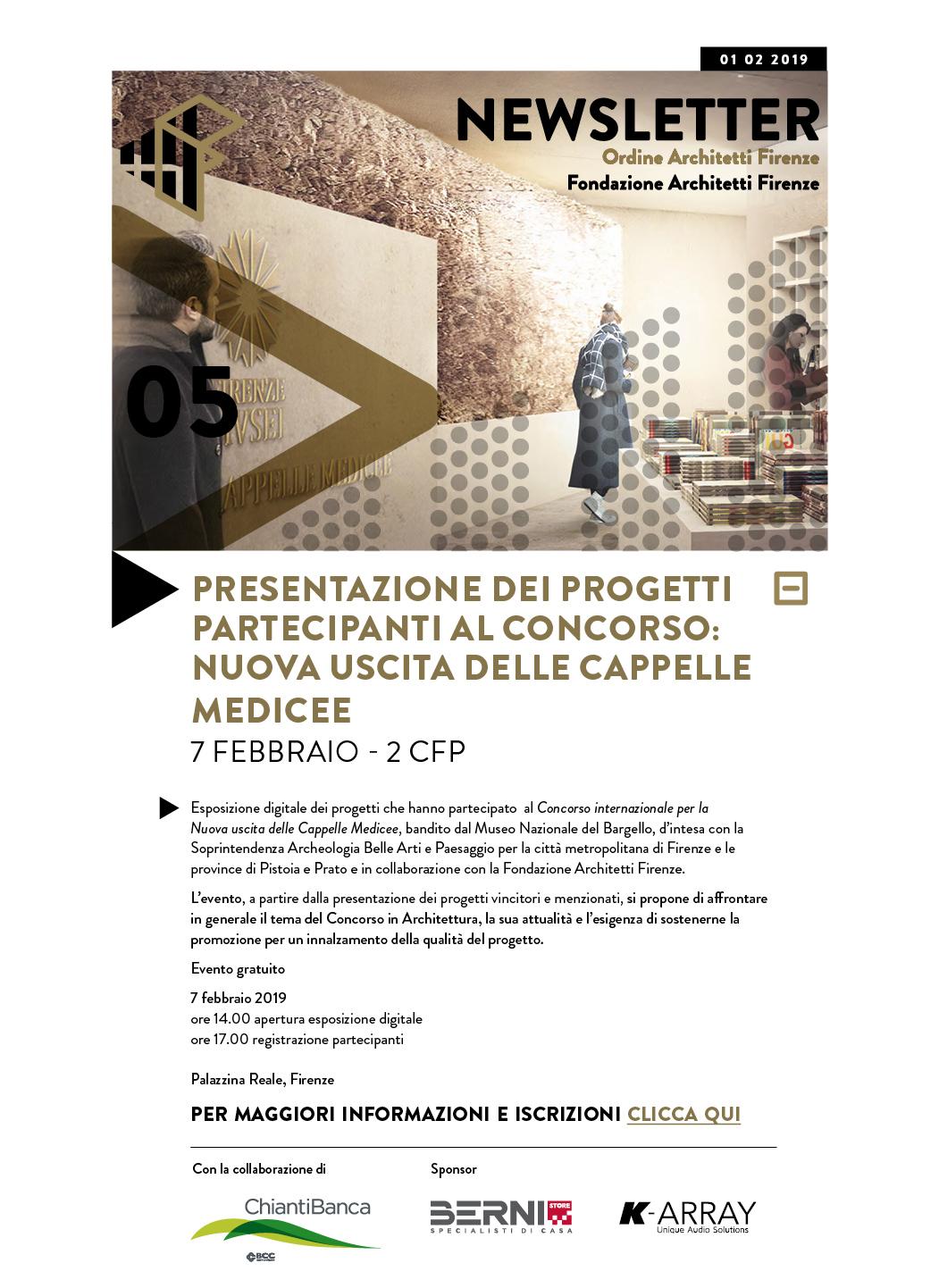 Presentazione dei progetti partecipanti al concorso: nuova uscita delle cappelle medicee