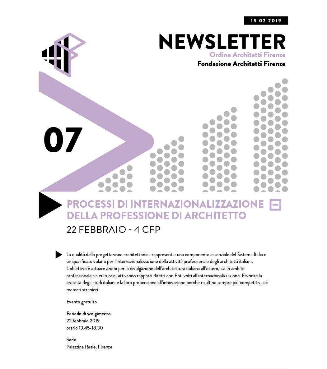 PROCESSI DI INTERNAZIONALIZZAZIONE DELLA PROFESSIONE DI ARCHITETTO 22 febbraio - 4 cfp