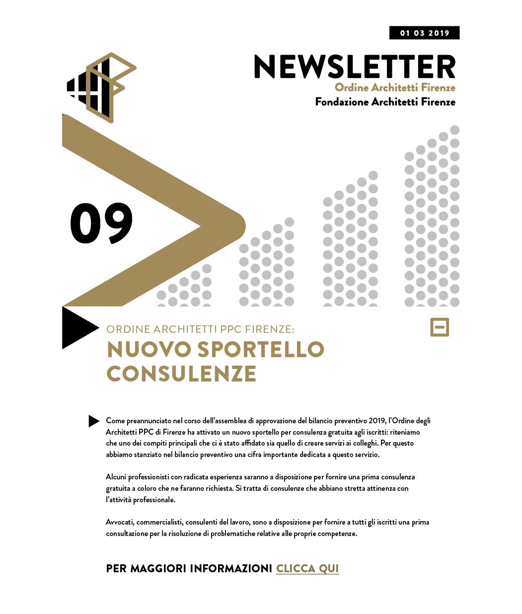 Ordine Architetti PPC Firenze: NUOVO SPORTELLO CONSULENZE