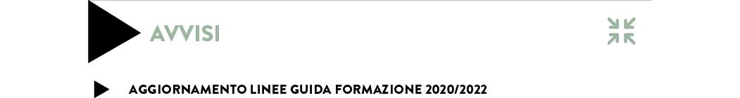 AGGIORNAMENTO LINEE GUIDA FORMAZIONE 2020/2022