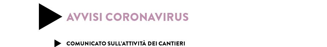 COMUNICATO SULL'ATTIVITÀ DEI CANTIERI