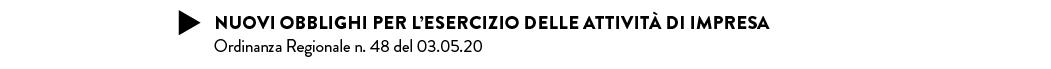 NUOVI OBBLIGHI PER L'ESERCIZIO DELLE ATTIVITÀ DI IMPRESA