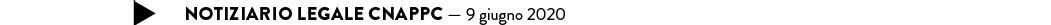 notiziario legale CNAPPC — 9 giugno 2020
