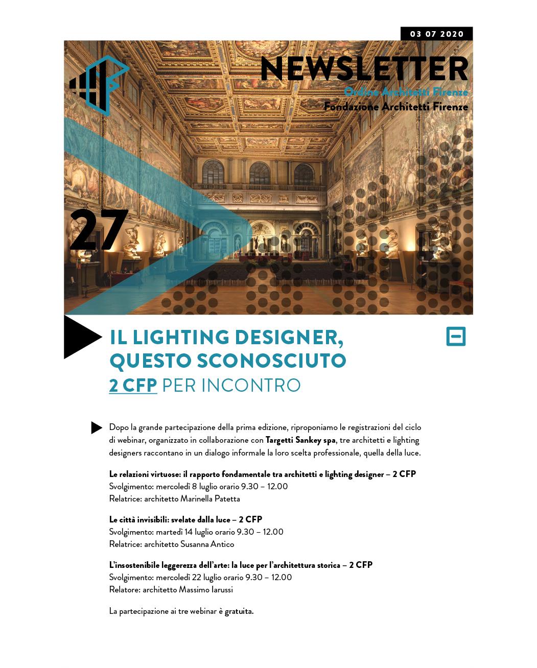 IL LIGHTING DESIGNER, QUESTO SCONOSCIUTO