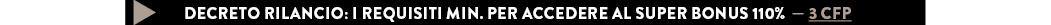 DECRETO RILANCIO: I REQUISITI MIN. PER ACCEDERE AL SUPER BONUS 110% — 3 CFP