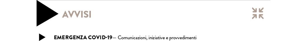 emergenza covid19 - comunicazioni