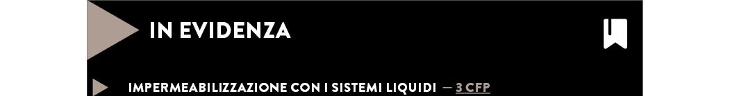 Impermeabilizzazione con i sistemi liquidi — 3 CFP