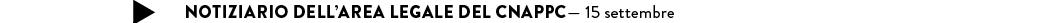 notiziario legale CNAPPC