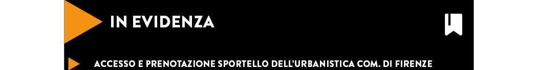 Accesso e prenotazione sportello dell'Urbanistica com. di Firenze