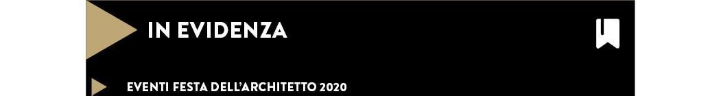 eventi Festa dell'architetto 2020