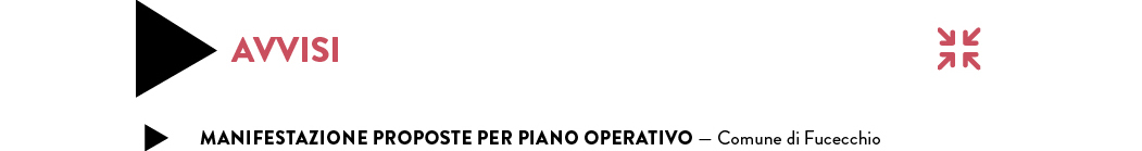 MANIFESTAZIONE PROPOSTE PER PIANO OPERATIVO — Comune di Fucecchio