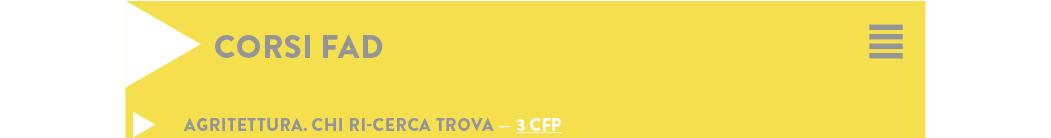 AGRITETTURA. CHI RI-CERCA TROVA — 3 CFP