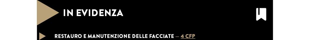 RESTAURO E MANUTENZIONE DELLE FACCIATE — 4 CFP