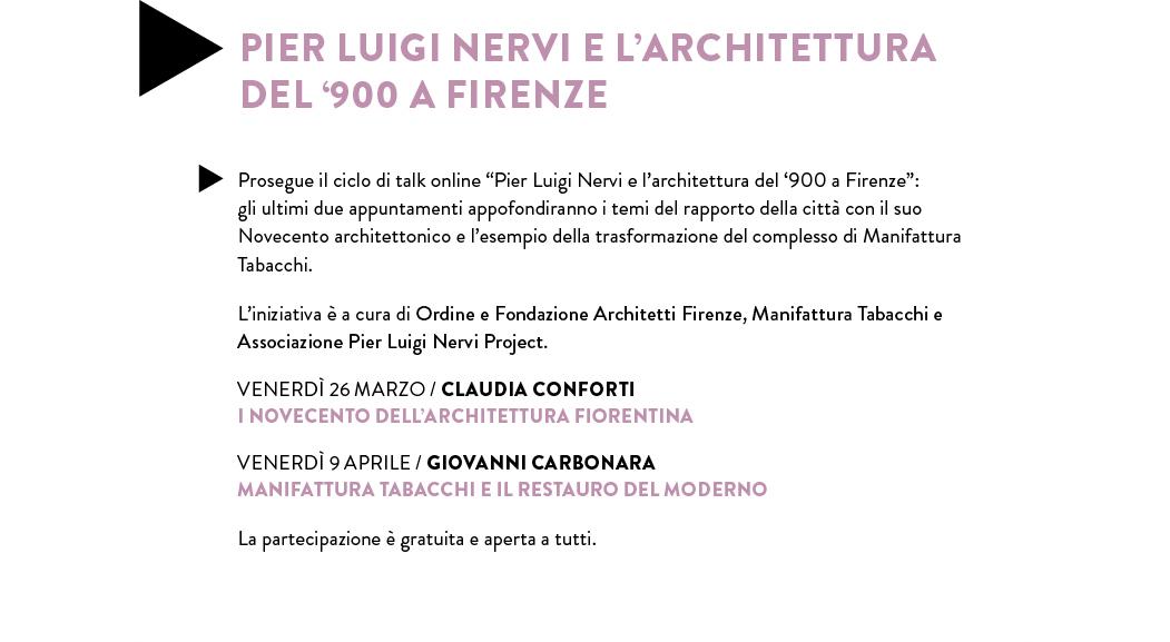 PIER LUIGI NERVI E L'ARCHITETTURA DEL '900 A FIRENZE
