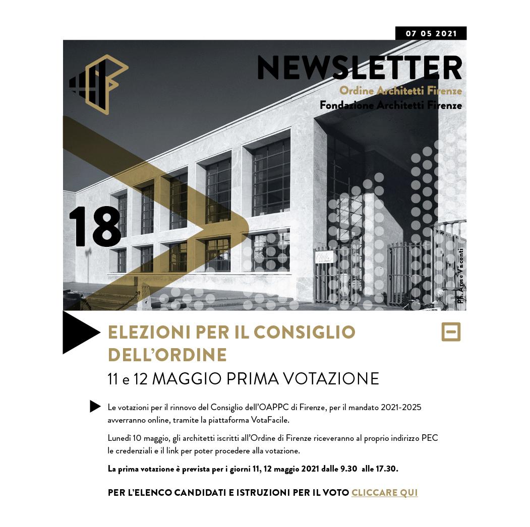 Elezioni per il consiglio dell'Ordine - 11 e 12 maggio prima votazione