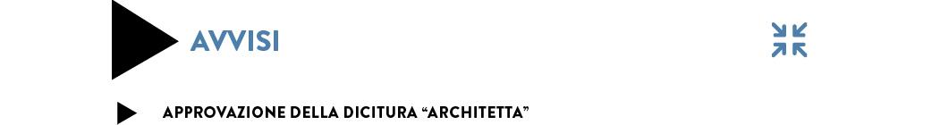 approvazione dicitura Architetta