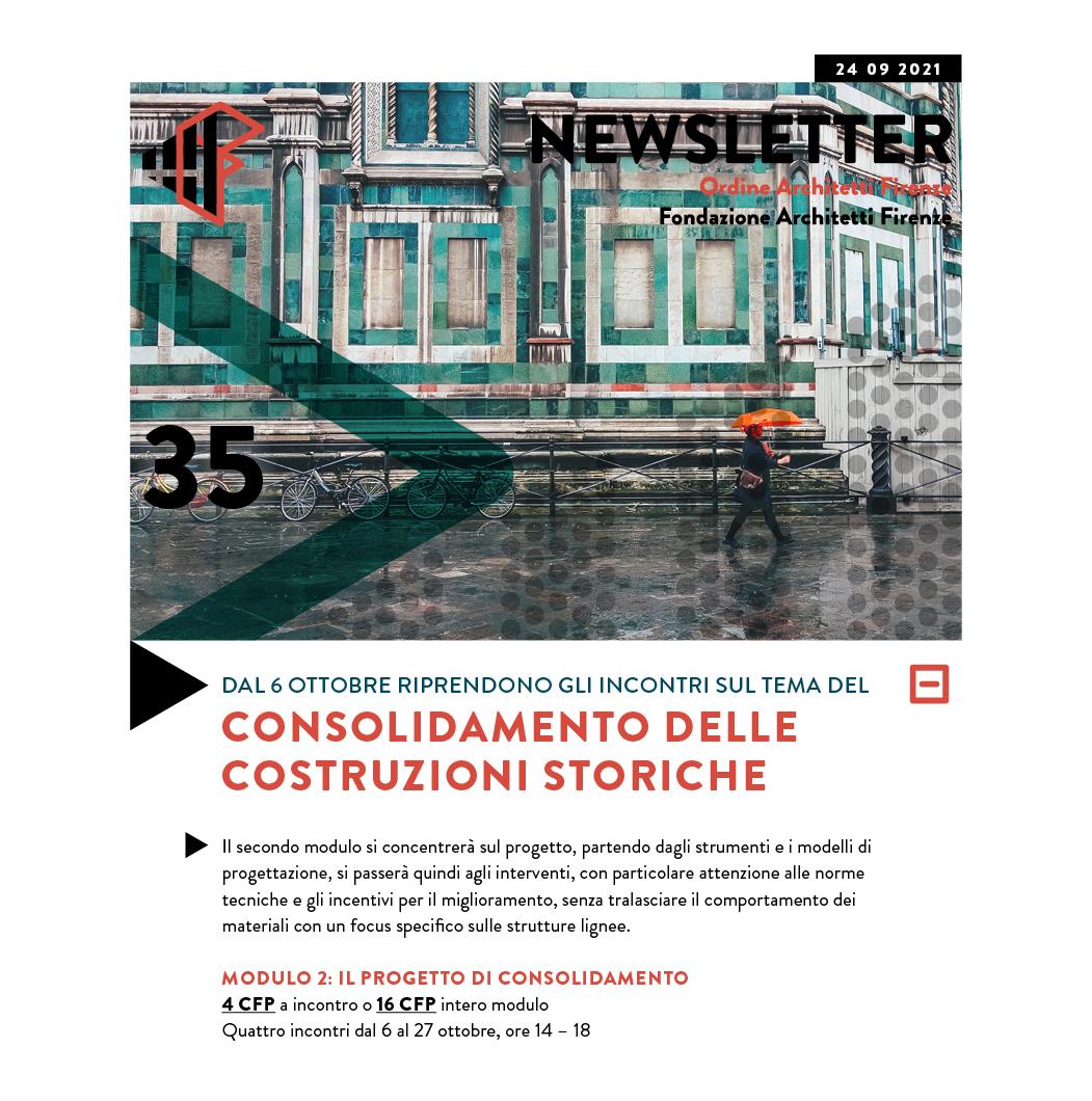 Consolidamento delle costruzioni storiche — 4 CFP per singolo incontro